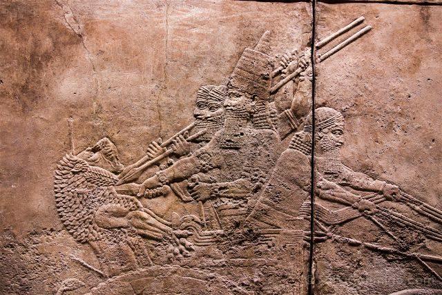 Londres British Museum Caceria Leon Asirio