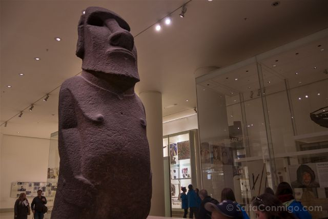 Londres British Museum Moai