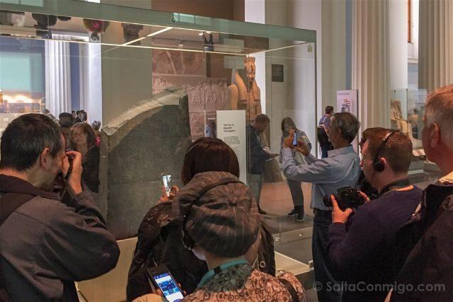 Londres British Museum Piedra Rosetta Publico