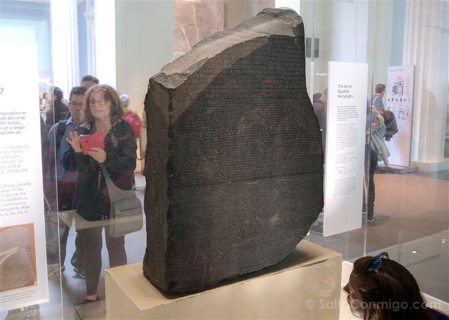 Londres British Museum Piedra Rosetta
