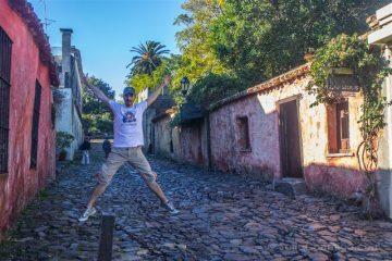 Uruguay Colonia del Sacramento Calle Suspiros Salto