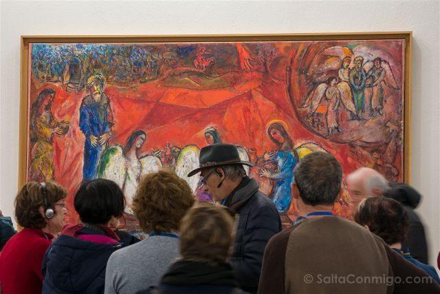 Francia Niza Museo Nacional Marc Chagall Mensaje Biblico Abraham Angeles