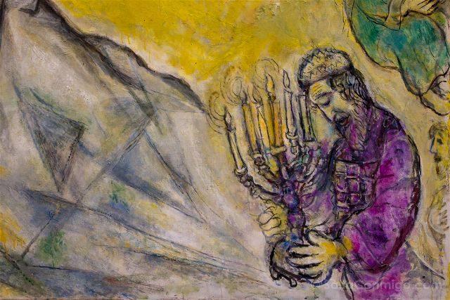 Francia Niza Museo Nacional Marc Chagall Mensaje Biblico Moises Tablas Ley Detalle