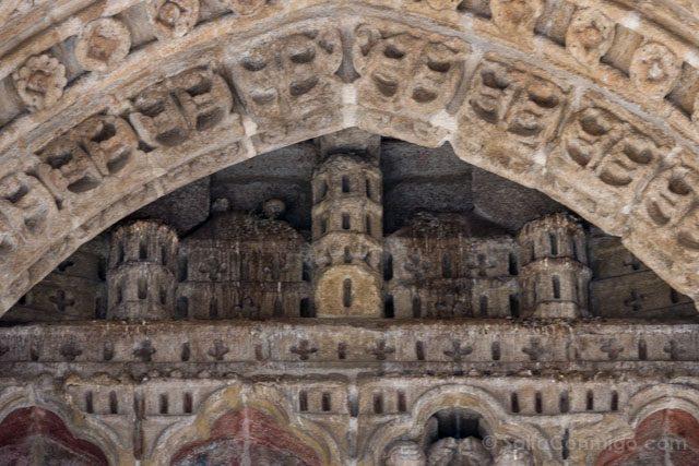 Galicia Rias Baixas Catedral de Tui Detalle Portada Jerusalem Celeste