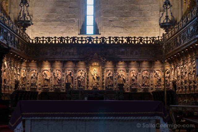 Galicia Rias Baixas Catedral de Tui Interior Coro