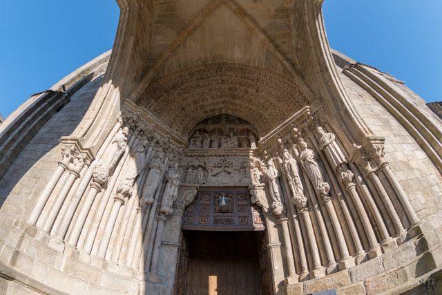 Galicia Rias Baixas Catedral de Tui Portada Ojo Pez