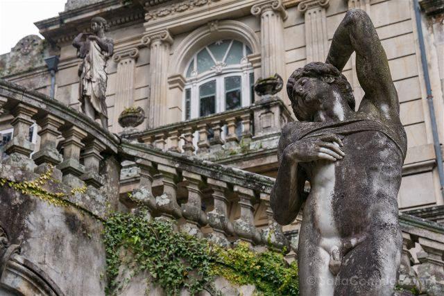 Galicia Rias Baixas Pazo Lourizan Detalle Estatua