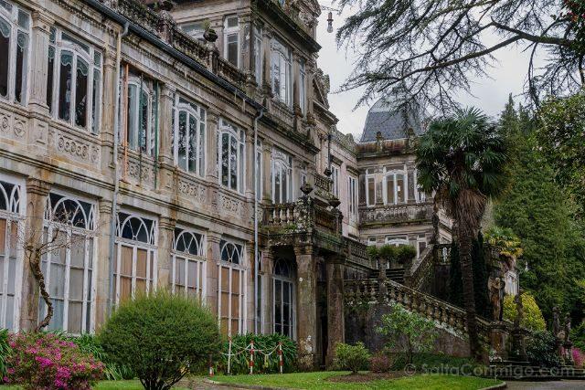 Galicia Rias Baixas Pazo Lourizan Detalle Lateral Izquierdo