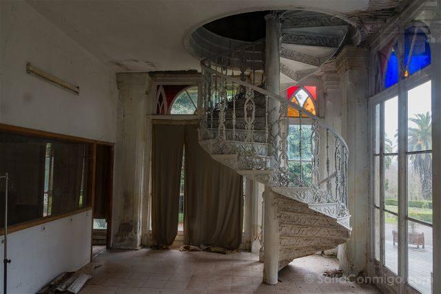 Galicia Rias Baixas Pazo Lourizan Interior Escalera