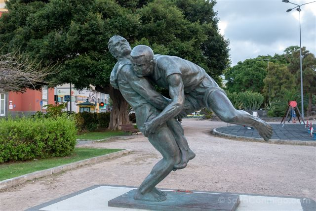 Las Palmas de Gran Canaria Lucha Canaria Estatua