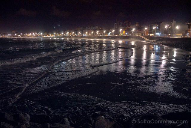 Las Palmas de Gran Canaria Playa Las Canteras Nocturna