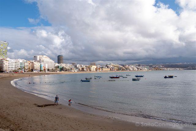 Las Palmas de Gran Canaria Playa Las Canteras Panorama