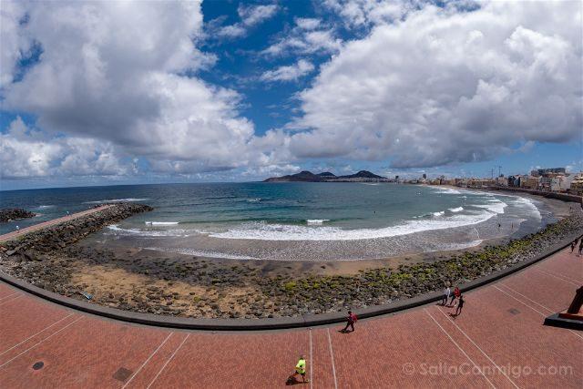 Las Palmas de Gran Canaria Playa Las Canteras Panoramica