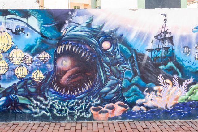 Las Palmas de Gran Canaria Playa Las Canteras Paseo Grafiti