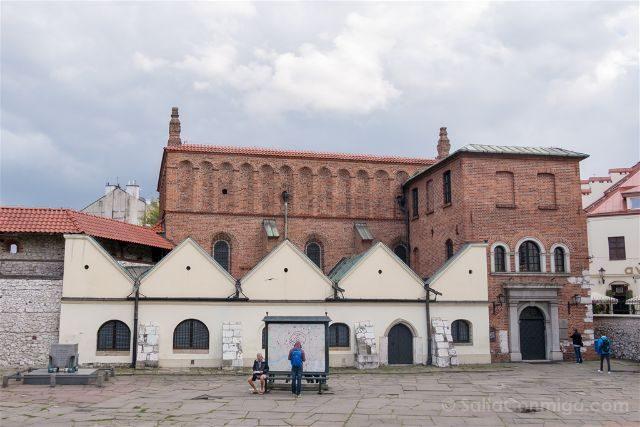 Polonia Cracovia Barrio Judio Kazimierz Calle Szeroka Museo Judio Galicia