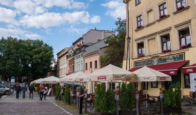 Polonia Cracovia Barrio Judio Kazimierz Calle Szeroka Plaza