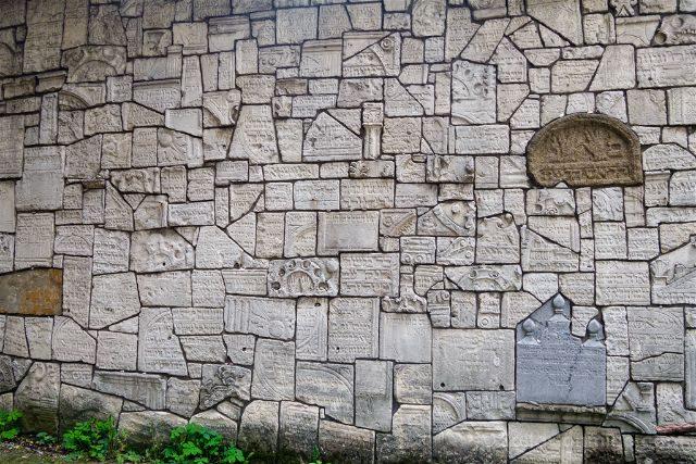 Polonia Cracovia Barrio Judio Kazimierz Cementerio Remuh Muro