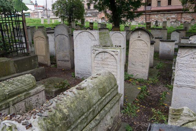 Polonia Cracovia Barrio Judio Kazimierz Cementerio Remuh Tumbas