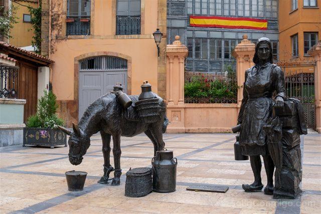 Asturias Oviedo Estatuas Trascorrales