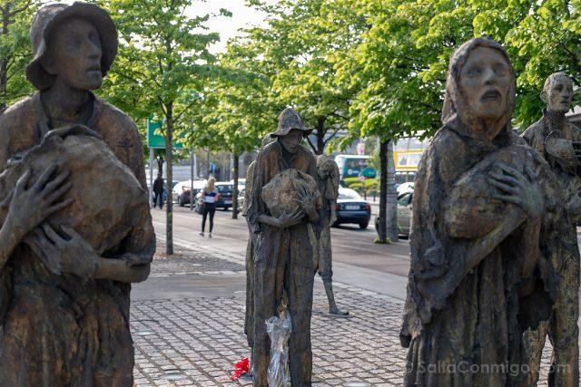 Irlanda Dublin Docklands Famine Memorial