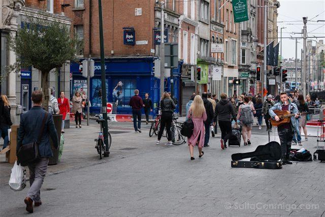 Irlanda Dublin Grafton Street Busker