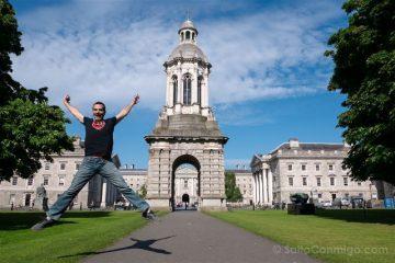 Irlanda Dublin Trinity College Exterior Salto