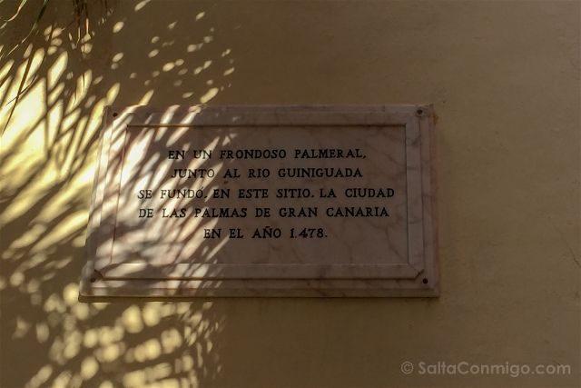 Las Palmas de Gran Canaria Placa Fundacion