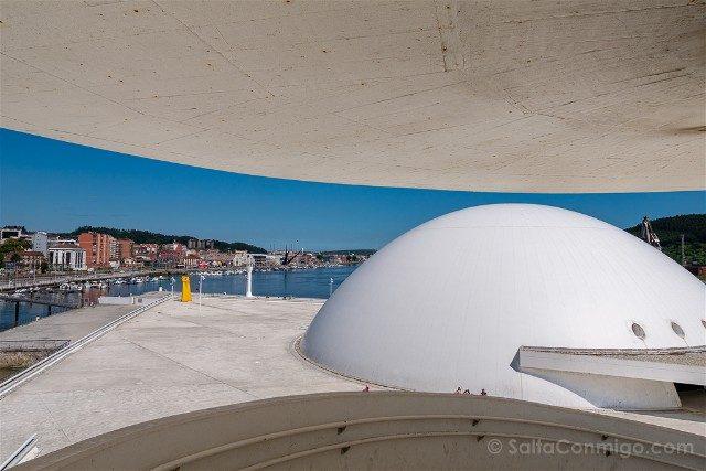 Asturias Aviles Centro Niemeyer Mirador Puerto