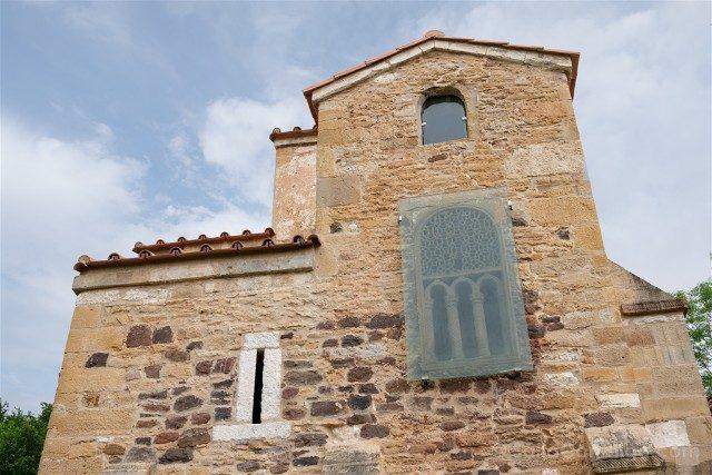 Asturias Oviedo Prerromanico Naranco San Miguel Lillo Celosia Fachada