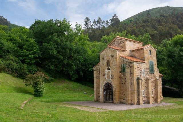 Asturias Oviedo Prerromanico Naranco San Miguel Lillo Fachada