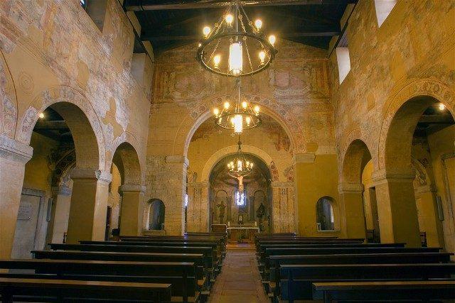 Asturias Oviedo Prerromanico San Julian de los Prados Interior