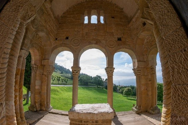 Asturias Oviedo Prerromanico Santa Maria Naranco Ventana Interior