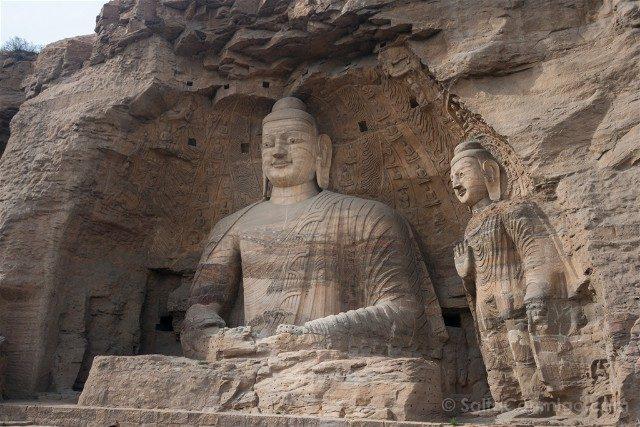 China Datong Grutas Yungang Buda Exterior