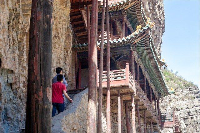 China Datong Templo Xuankong Andando