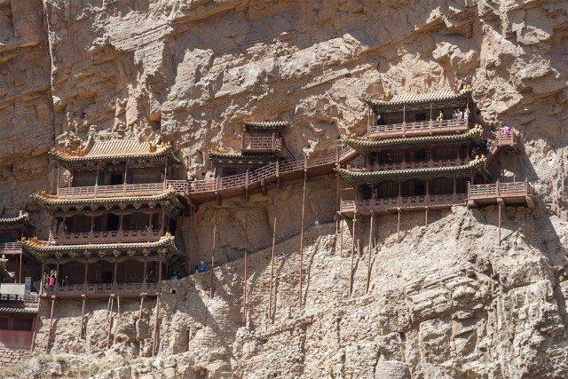 China Datong Templo Xuankong Pasarelas