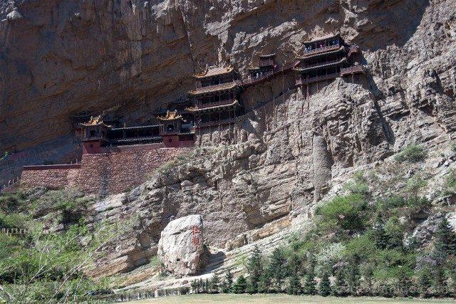 China Datong Templo Xuankong Vista Monte