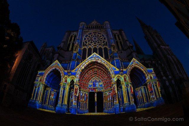 Francia Chartres en Lumieres Catedral Norte Ojo Pez