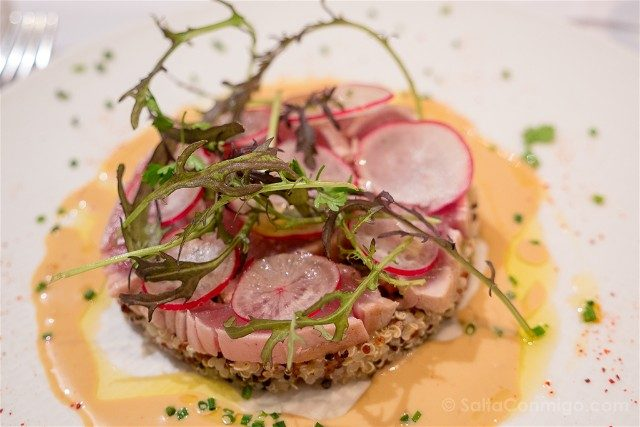 Francia Comer Niza L'Ecole de Nice Tataki Atun Quinoa