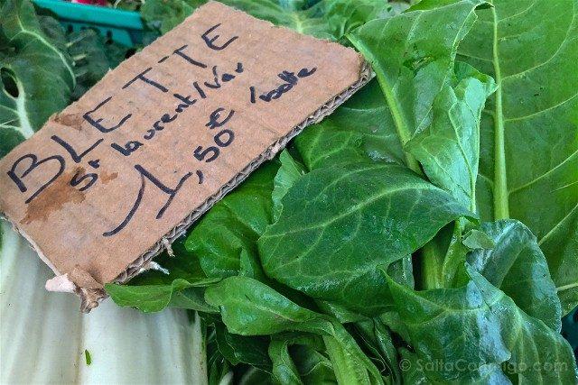 Francia Comer Niza Mercado Acelgas Blette