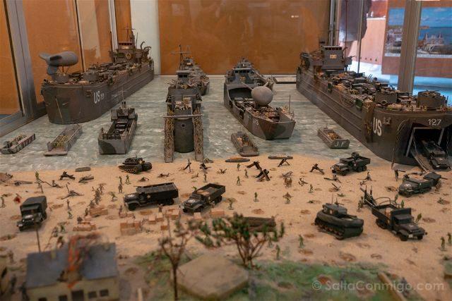Francia Desembarco de Normandia Arromanches Gold Beach Museo Maqueta