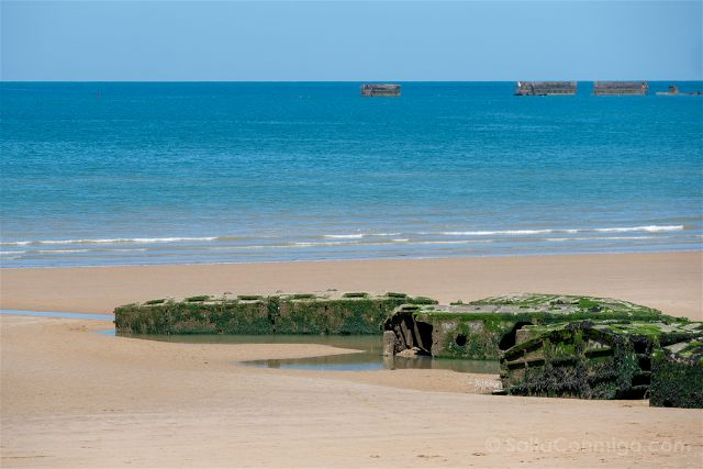Francia Desembarco de Normandia Arromanches Gold Beach Port Winston