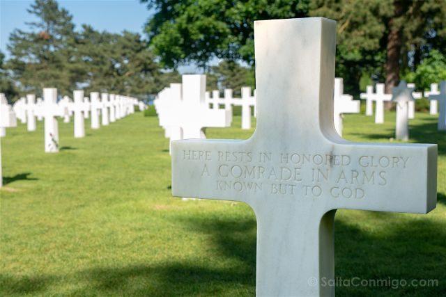 Francia Desembarco de Normandia Cementerio Americano Memorial Soldado Desconocido