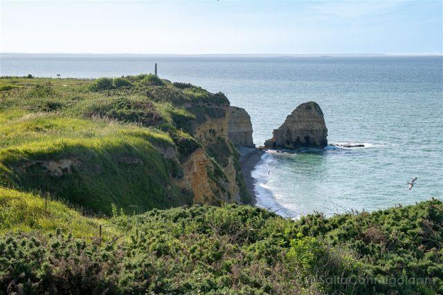 Francia Desembarco de Normandia Pointe du Hoc Acantilado