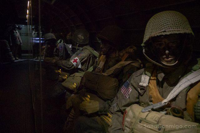Francia Desembarco de Normandia Sainte-Mere-Eglise Airborne Museum Paracaidistas
