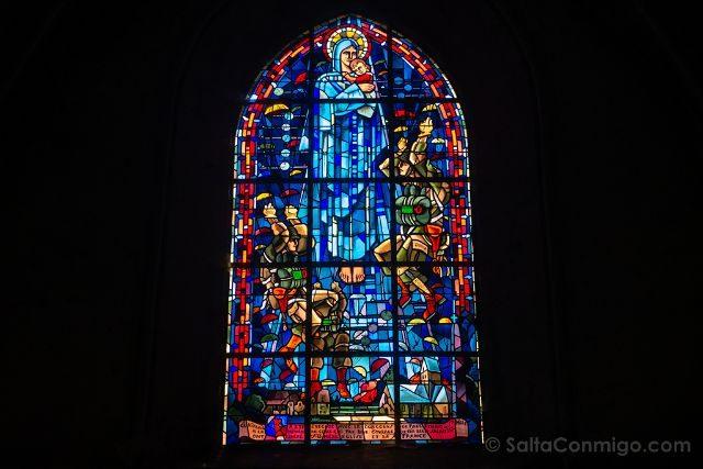 Francia Desembarco de Normandia Sainte-Mere-Eglise Vidriera