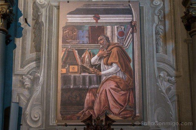 Italia Iglesias Florencia Ognissanti Botticelli San Agustin