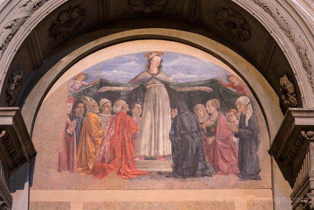 Italia Iglesias Florencia Ognissanti Ghirlandaio Virgen Misericordia