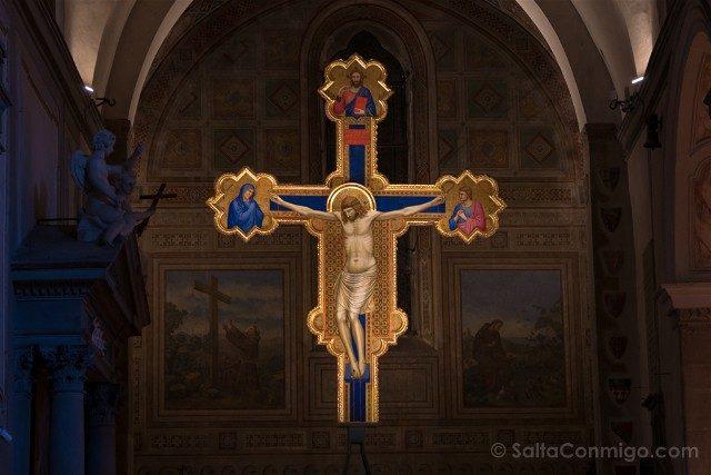 Italia Iglesias Florencia Ognissanti Giotto Crucifijo