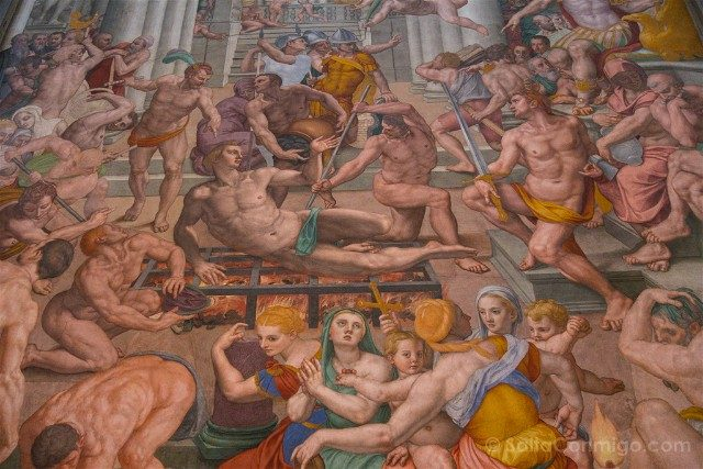 Italia Iglesias Florencia San Lorenzo Frescos