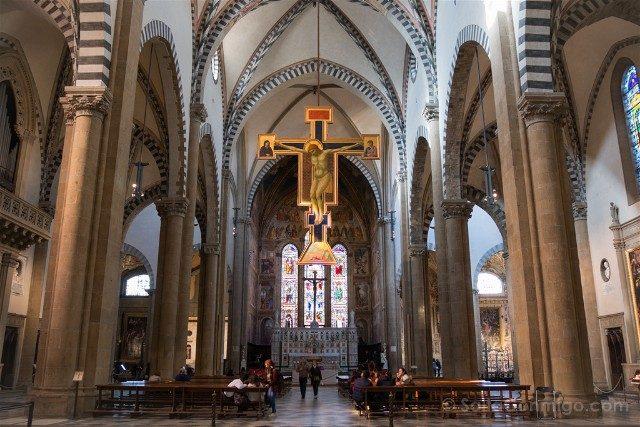 Italia Iglesias Florencia Santa Maria Novella Crucifijo Giotto